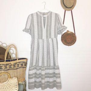 NWT Gianni Bini Erin Grey Embroidered Dress